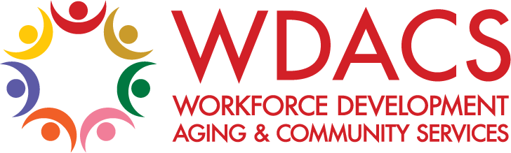 Workforce Development, Aging and Community Services. Logo.